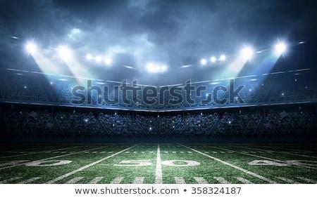 Stock fotó: éjszaka · futball · aréna · csíkos · mező · sportok