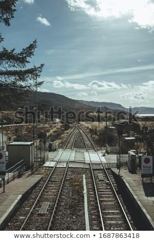 Tájkép felvidék Skócia víz hegyek tó Stock fotó © phbcz
