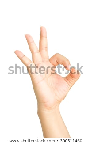 Stock photo: Closeup of arm - hand making number three sign.
