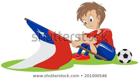 üzücü Şili futbol fan örnek vektör Stok fotoğraf © orensila