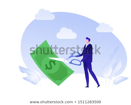 Schulden Erleichterung Design lange Schatten Business Stock foto © tashatuvango