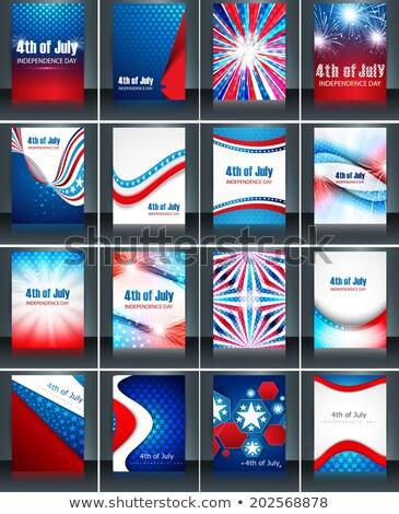 Americano dia coleção cartão conjunto Foto stock © bharat
