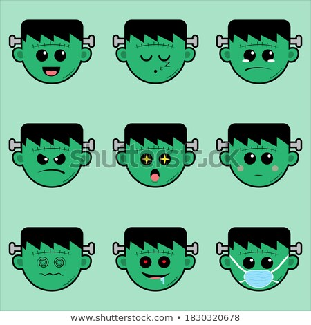 Frankenstein Monster Emotions - Happy, Sad, Angry Stock photo © digitaljoni
