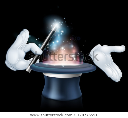 Black wizard top hat with white glove  Stock photo © Elisanth