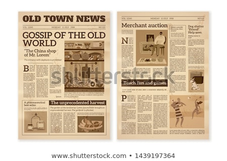 Vector illustration – Printed media - magazine and newspaper Stock photo © Mr_Vector