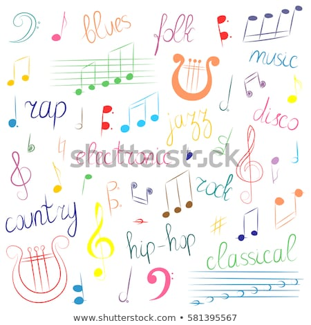 Lyre and musical notes – Vector illustration Stock photo © Mr_Vector