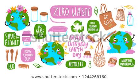 Stockfoto: Aarde · uitrusting · twee · globes · wereld · achtergrond