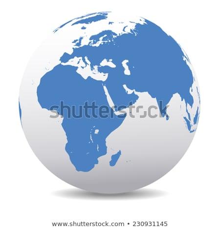 Afrika Közel-Kelet India globális világ vektor Stock fotó © fenton