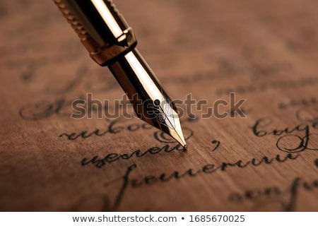 Writing Fountain pen  Stock photo © tilo