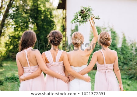 Ilustración sonrisa fiesta mujeres moda matrimonio Foto stock © adrenalina