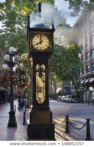 Vapore clock Vancouver acqua strada blu Foto d'archivio © jameswheeler
