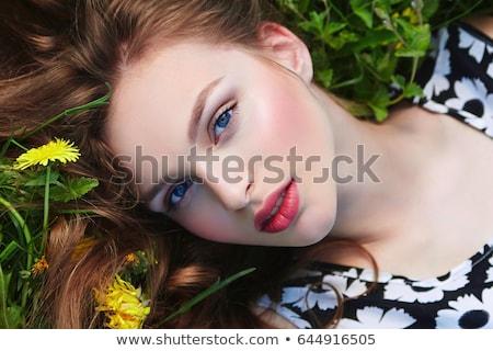 Flor belo morena cara rosa Foto stock © phakimata