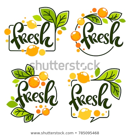 Stock photo: composition of fresh fruit