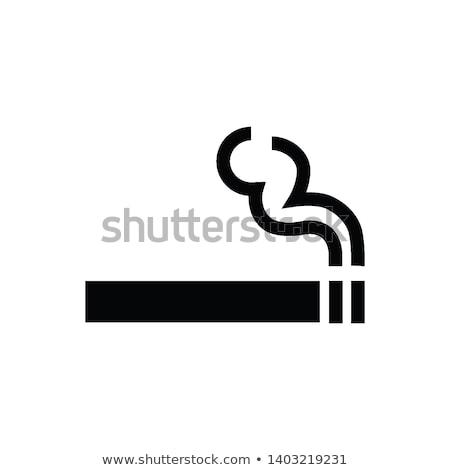 курение · череп · изображение · формат · сигарету · страхом - Сток-фото © glorcza