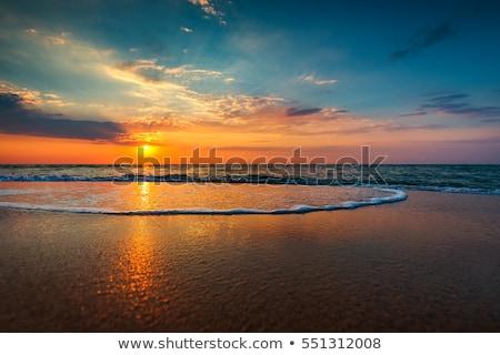 Bali pôr do sol praia belo oceano ilha Foto stock © joyr
