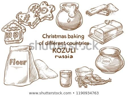 Russo natal pão de especiarias fechar pagão Foto stock © fanfo