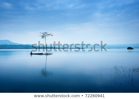 güzel · mavi · göl · dağlar · sabah · gündoğumu - stok fotoğraf © ankarb
