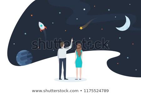 man looking the comet Stock photo © adrenalina