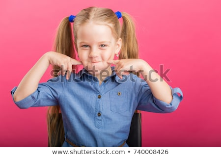 young child with color on her cheek  Stock photo © Dave_pot