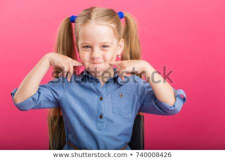 小さな 子 色 頬 甘い 少女 ストックフォト © Dave_pot