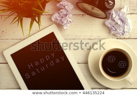 Good Morning Message on Tablet Computer Screen Stock photo © stevanovicigor