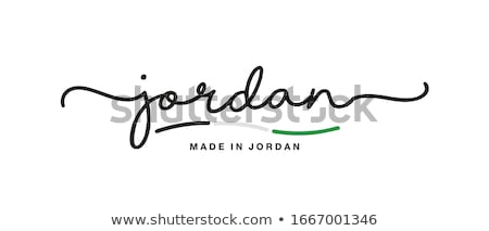 флаг · Иордания · черно · белые · зеленый · горизонтальный - Сток-фото © mayboro1964