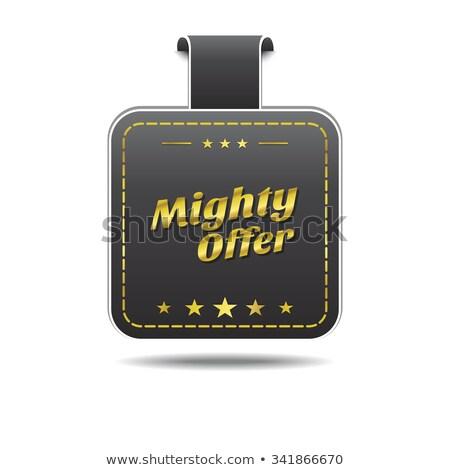 Potężny oferta złoty wektora ikona projektu Zdjęcia stock © rizwanali3d