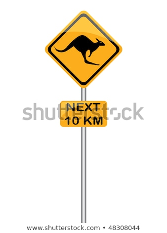 Kangaroo sign caution Stock photo © adrenalina