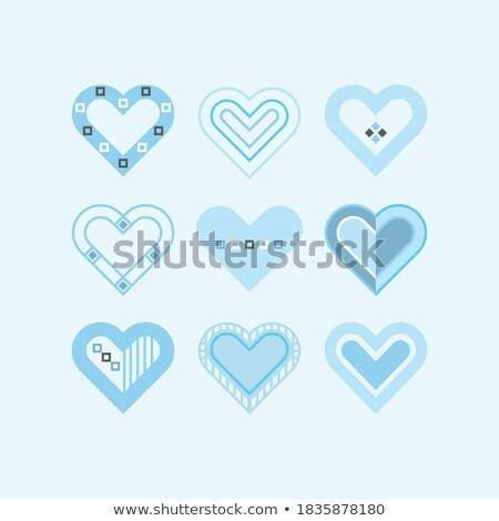 Mavi vektör ayarlamak işaretleri el dizayn Stok fotoğraf © slunicko