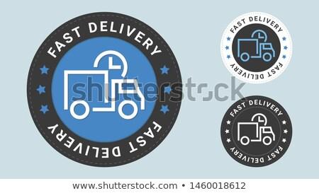fast shipping flat circle icon stock photo © anna_leni