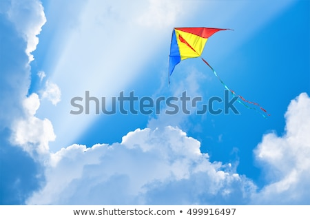 Flying Kite with Tail High Stock photo © silkenphotography