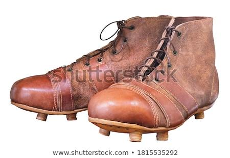 futebol · sapatos · jogador · de · futebol · pé · desgaste · ícone - foto stock © Dxinerz