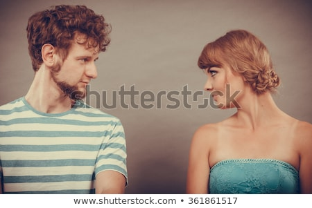 Man and woman dialog Stock photo © blumer1979