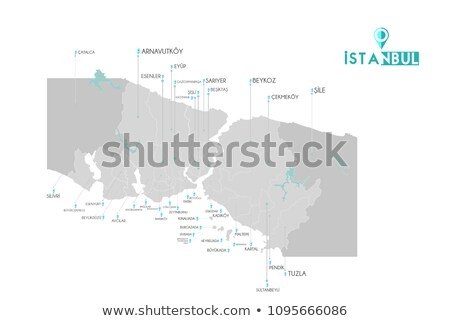 Istanbul Map with administrative districts where Buyukcekmece is Stock photo © Istanbul2009