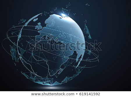 Holographic screen background with world map Stock photo © cherezoff