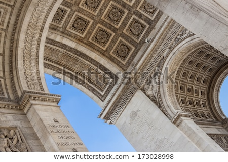 Detail of the underneath of the Arc de Triumph Stock photo © smartin69