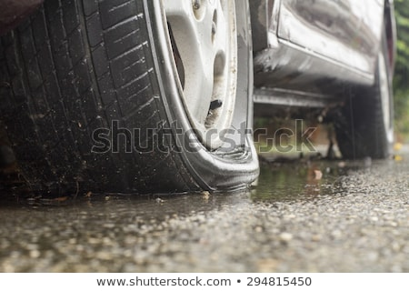 flat tire stock photo © unkreatives