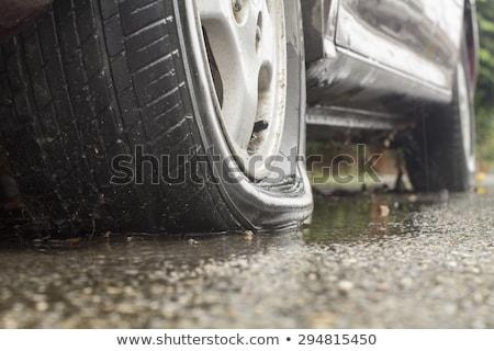 Stock photo: flat tire