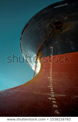 Rood · vracht · boot · haven · wind · hemel - stockfoto © joyr