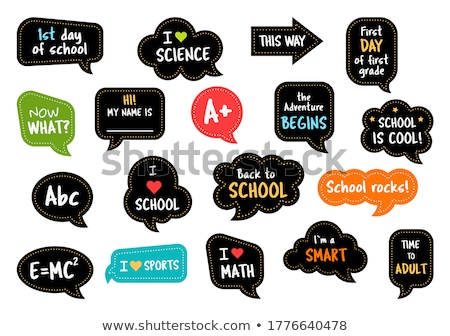 Vector graphic icon sticker set of school and education Stock photo © feabornset