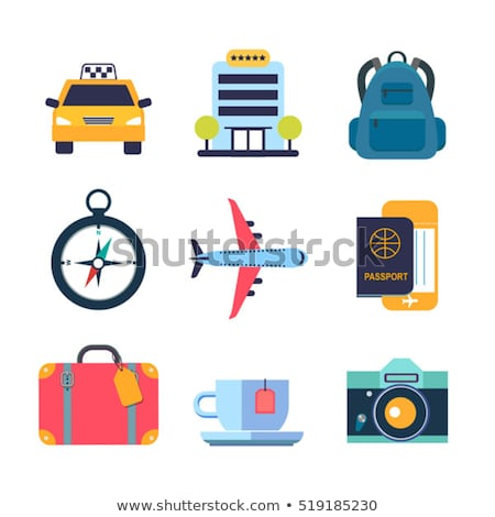 Colorful Travel Icons Stock photo © Voysla