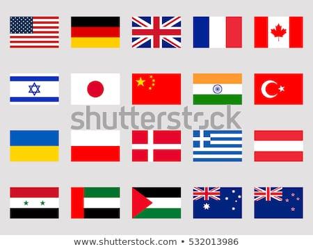 Kanada krallık Danimarka bayraklar bilmece yalıtılmış Stok fotoğraf © Istanbul2009