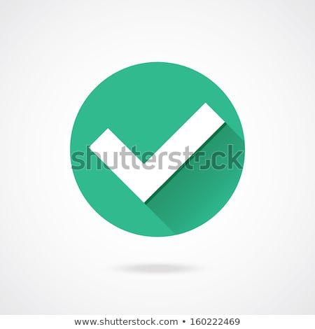 Accept Icon. Confirm Button. Flat Design. Long Shadow. Stock photo © WaD