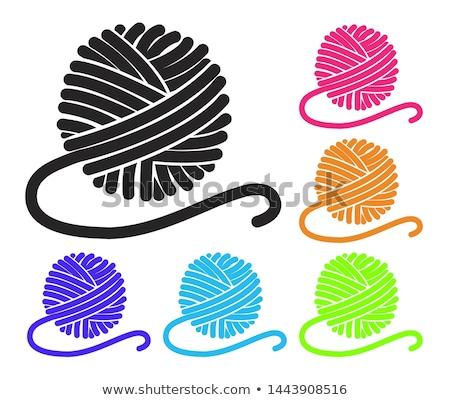 Vector colorido hilados casa fondo Foto stock © freesoulproduction