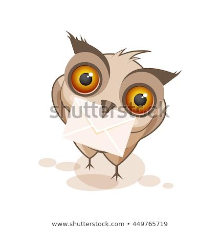 Coruja carteiro ilustração trabalhar pássaro trabalhador Foto stock © adrenalina
