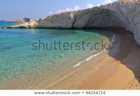 eiland · zee · rotsen · golven · verlaten - stockfoto © ankarb