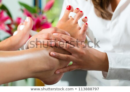 женщину · педикюр · салон · красоты · отель · ногу · отпуск - Сток-фото © wavebreak_media