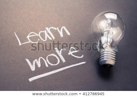 Learn more word Stock photo © fuzzbones0