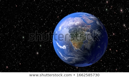 asteroids threat over planet earth stock photo © sdecoret