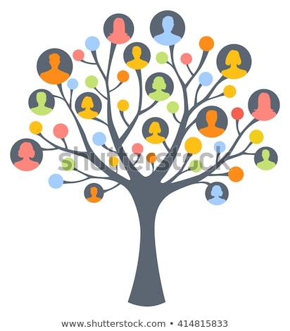 Famille arbre deux personnes amour homme Photo stock © Vg